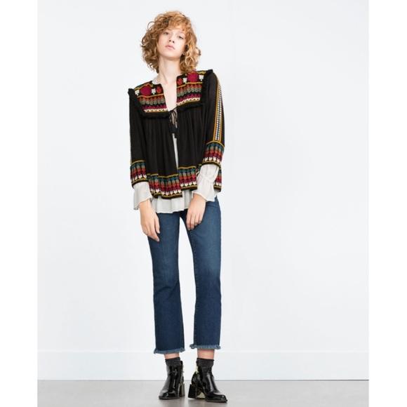 Zara boho blouse/jacket